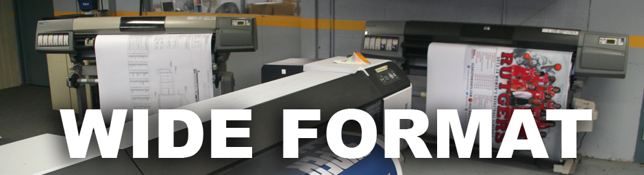 Three of our wide format printers